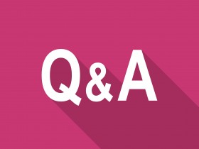 question answer flat design modern icon with long shadow for web and mobile app