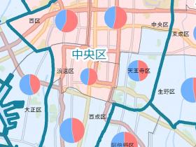 大阪市住民投票結果ズーム