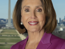 Official portrait of Speaker of the House Nancy Pelosi, photographed January 11, 2019 in the Office of the Speaker in the United States Capitol.